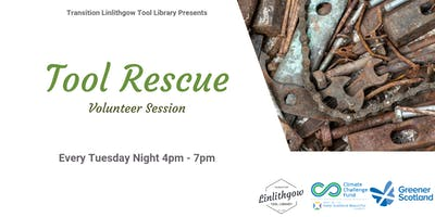 Tool Rescue at Transition Linlithgow Tool Library