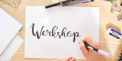 Workshop Handlettering & Brushlettering / Frankfurt / Rhein-Main /Lettering / DIY