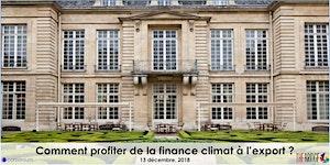 Comment profiter de la finance climat à l'export