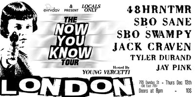 The Now You Know Tour - 48hrntmr, SBOsane, SBOswampy & More!