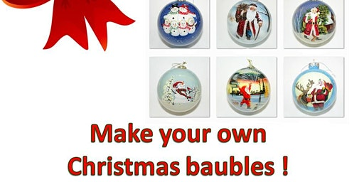 Best personalised gift for Christmas! Learn how to paint your own Christmas Bauble!