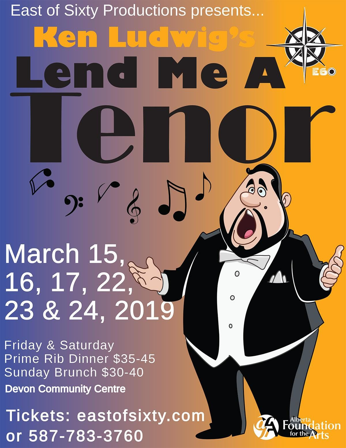 Lend Me A Tenor Friday March 22