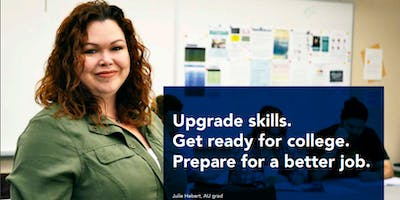 Upgrade job skills, qualify for college and/or apprenticeships for FREE!
