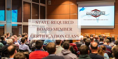 STATE-REQUIRED BOARD MEMBER CERTIFICATION CLASS