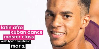 Latin Afro Cuban Dance Master Class with Lyvan Verdecia at NJPAC!