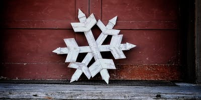 Reclaimed Wood Snowflake Wall Decor Workshop