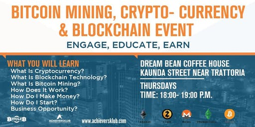 NAIROBI CBD (THURSDAYS - EVENING SESSIONS) - BITCOIN MINING, CRYPTO-CURRENCY & BLOCKCHAIN EVENT