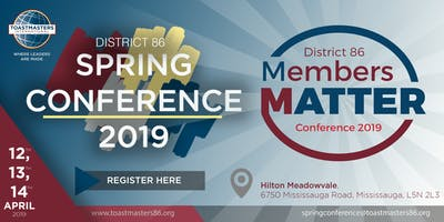 2019 District 86 Toastmaster Spring Conference