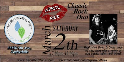 April Red Rockin' The Zephyrhills Brewing Company!