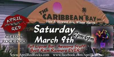 April Red Rockin' the Tiki at The Caribbean Bay in Winter Haven!