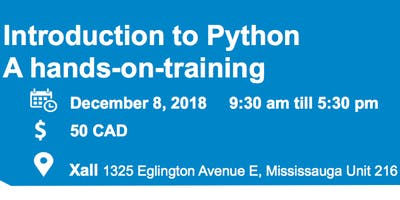 Introduction to Python - A hands-on training