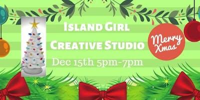 Christmas Tree at Island Girl Creative Studio