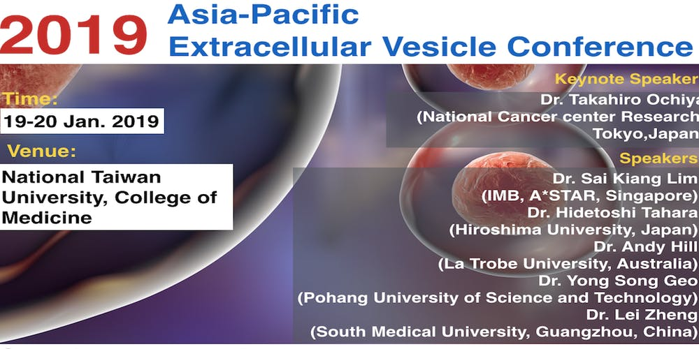 2019 asia pacific extracellular vesicle conference tickets sat jan 19 2019 at 930 am eventbrite