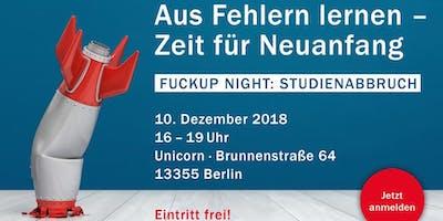 FuckUp Nights Berlin: Studienabbruch