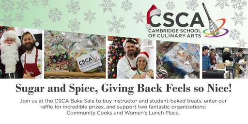 CSCA Charity Bake Sale, Benefiting Community Cooks and Women's Lunch Place