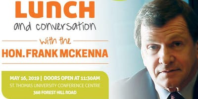 Lunch and Conversation with The Hon. Frank McKenna