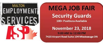 JOB FAIR - FOR SECURITY GUARDS 100+ Positions Available