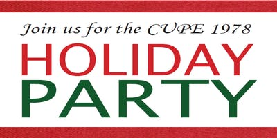 CUPE 1978 Holiday Party