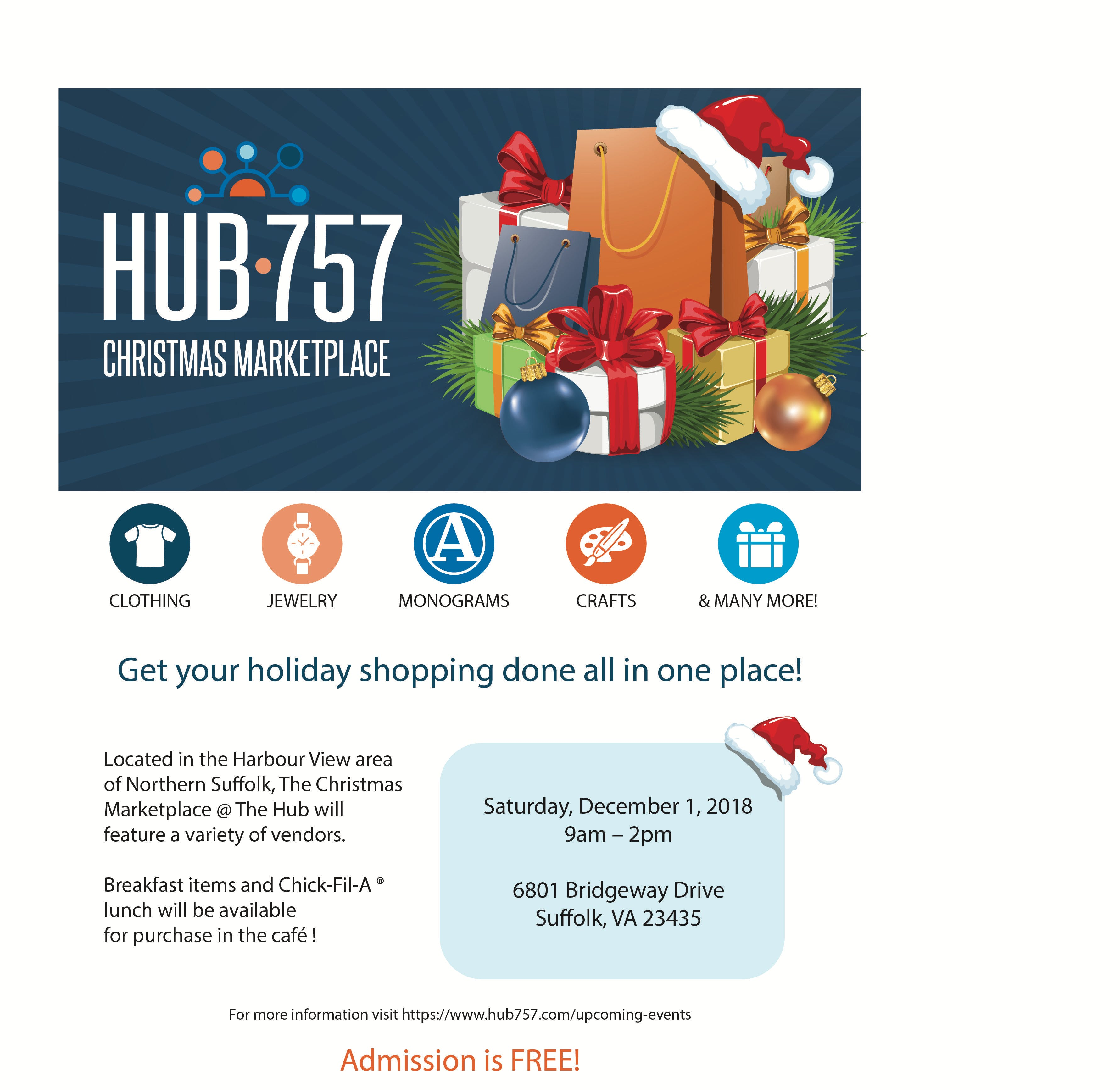 Christmas Marketplace @ The Hub - 1 DEC 2018