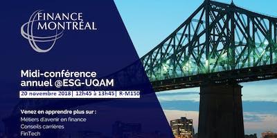Midi-conférence de Finance Montréal @ESG-UQAM