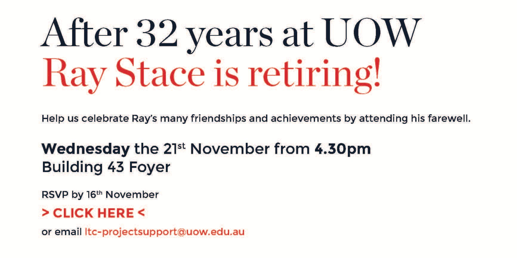 Ray Stace's Retirement Party
