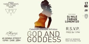 Free Tickets for the God & Goddess Party, Saturday...