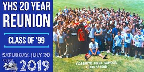 YHS Class of '99 TWENTY Year Reunion tickets
