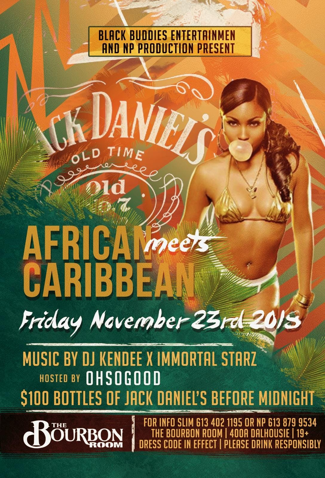 African meets Caribbean party