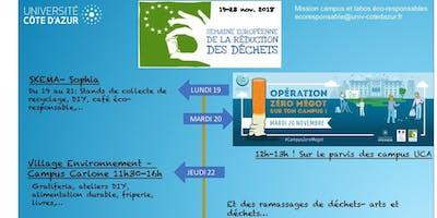 Opération Zéro Mégot- Semaine de la Réduction des déchets