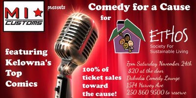 Mirror Image Customs presents Comedy for a Cause for Ethos Sustainable Living