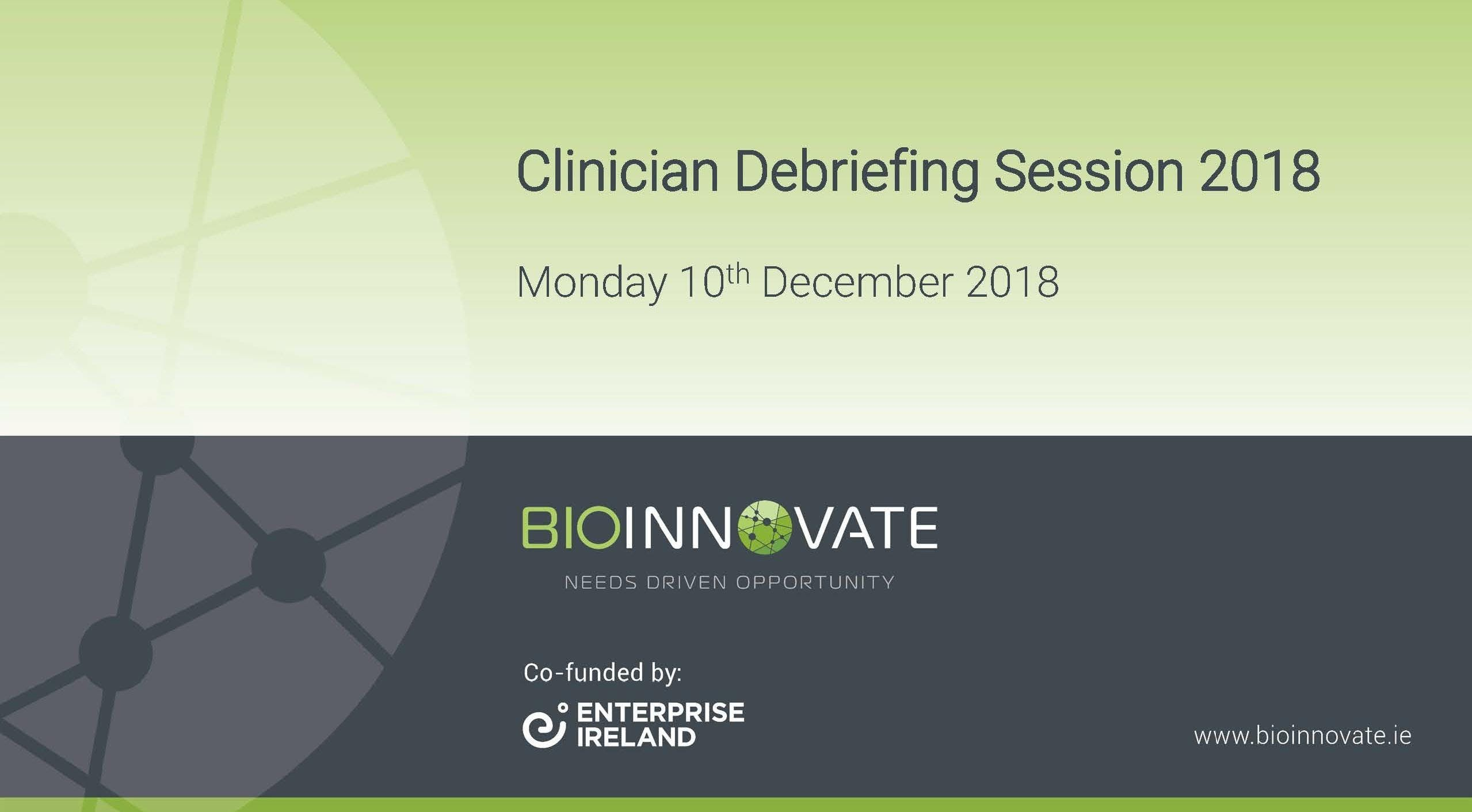 BioInnovate Clinician Breakfast Debriefing Session 2018