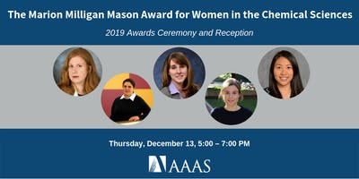 2019 AAAS Mason Award for Women in Chemical Sciences: Ceremony & Reception