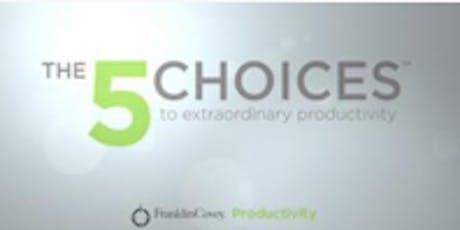 5 Choices of Extraordinary Productivity  tickets