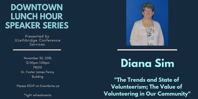 Downtown Speaker Series: The Trends and State of Volunteerism