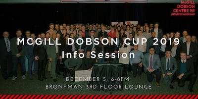 McGill Dobson Cup 2019 Info Session