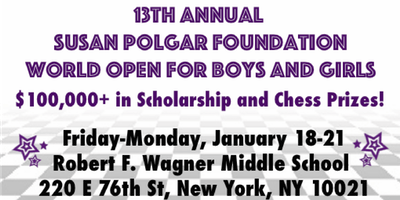 13th Annual Susan Polgar Foundation World Open
