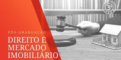 [Terceira Turma] Pós Graduação em Direito e Mercado Imobiliário ingressos