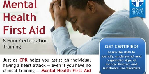 Gulf Bend Center Mental Health Mental Health First Aid Training - Adult