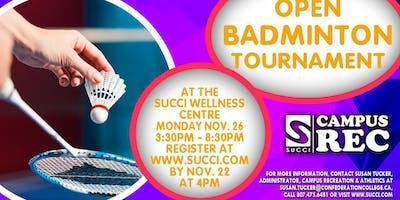 Open Badminton Tournament