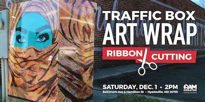 Traffic Box Art Wrap Ribbon Cutting