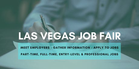 Las Vegas Job Fair - September 23, 2019 Job Fairs & Hiring Events in Las Vegas NV tickets