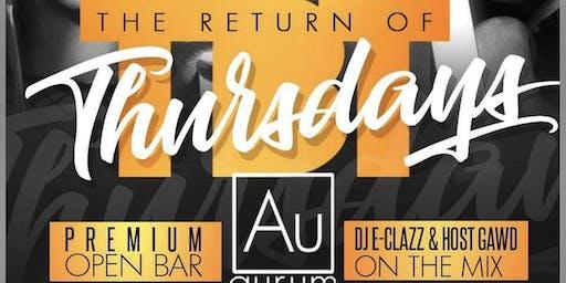 Throwback Thursday @ Aurum (Open Bar)