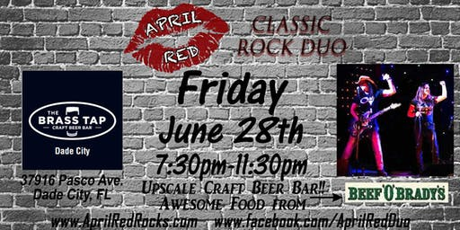 April Red is Back to ROCK The Brass Tap in Dade City!