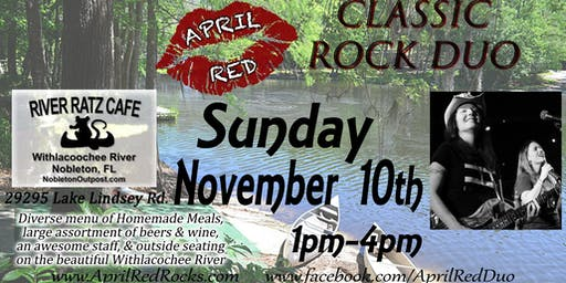 April Red is Back to ROCK River Ratz Cafe in Nobleton!