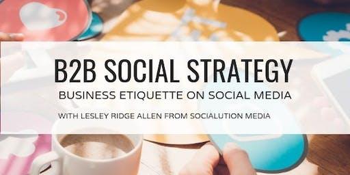 Workshop: B2B Strategy on Social Media