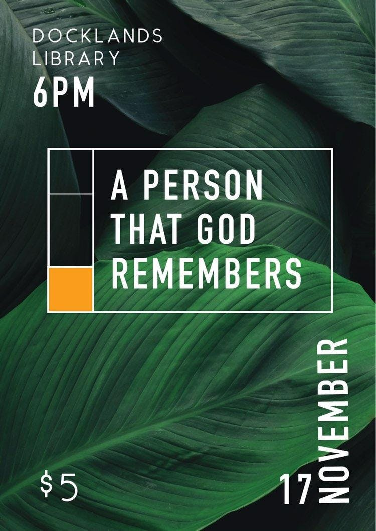 """Christian Musical Play """"A Person that God rem"""