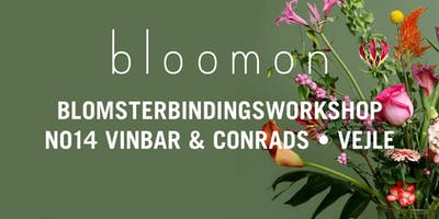 bloomon blomsterbindings-workshop 9. januar   Vejle, No14 Vinbar & Conrads