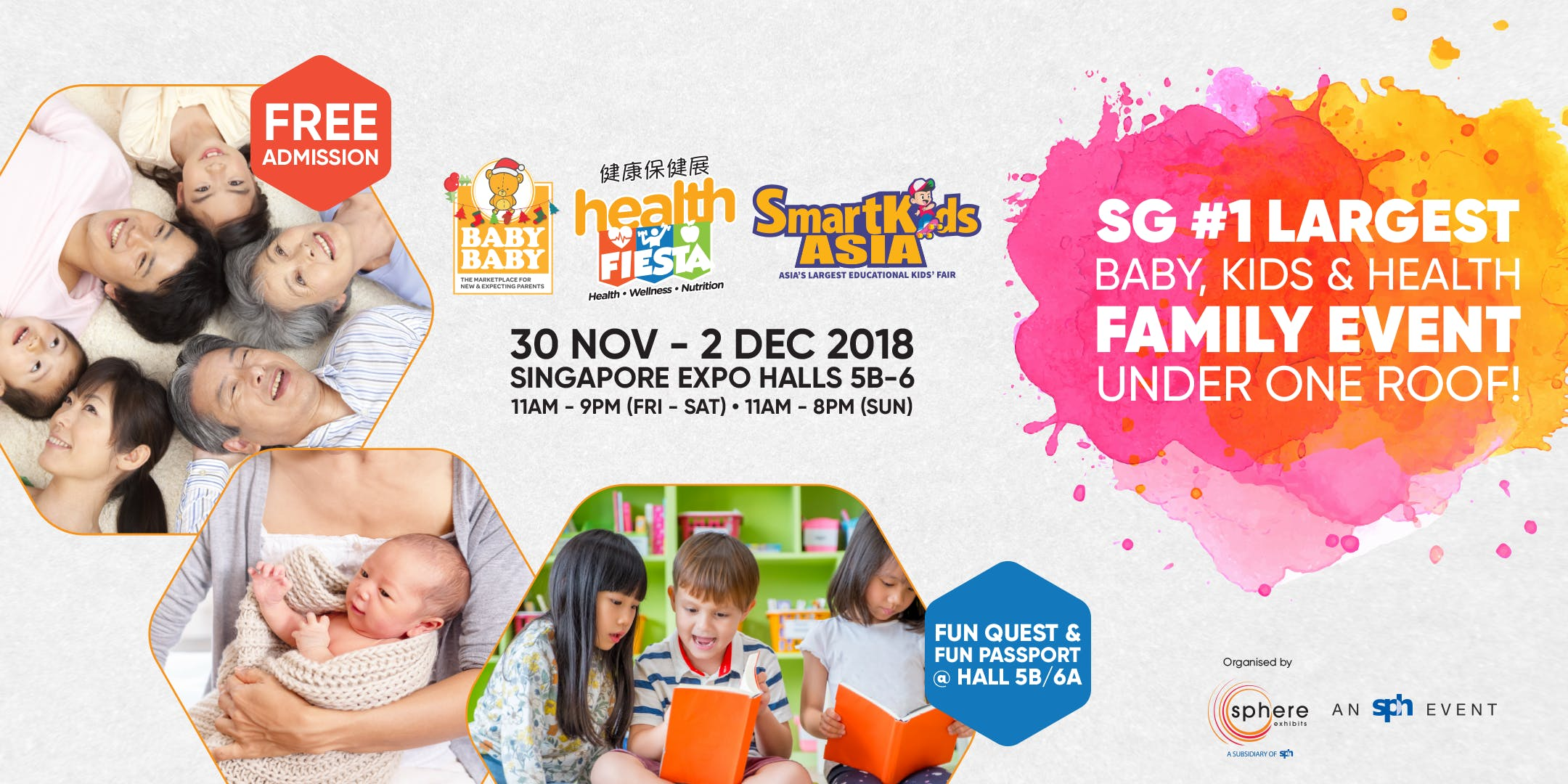 3 in 1 sg 1 largest baby kids health family event under one roof