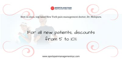 Discount for new patients from Sports Injury & Pain Management Clinic of New York