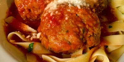 Home made Pasta and Meatballs with Fresh Tomato Sauce at Soule\